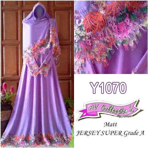 Gamis Cantik Purple gamis muslim cantik fariza premium y1070 renda rainbow
