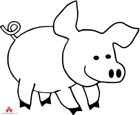 Pig Outline by Clip Black And White Pig Www Pixshark Images Galleries With A Bite
