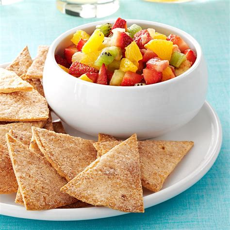 fruit salsa fruit salsa and cinnamon chips recipe food you should try