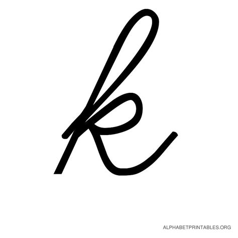 small letter tattoo k cursive alphabet letters in printable format small