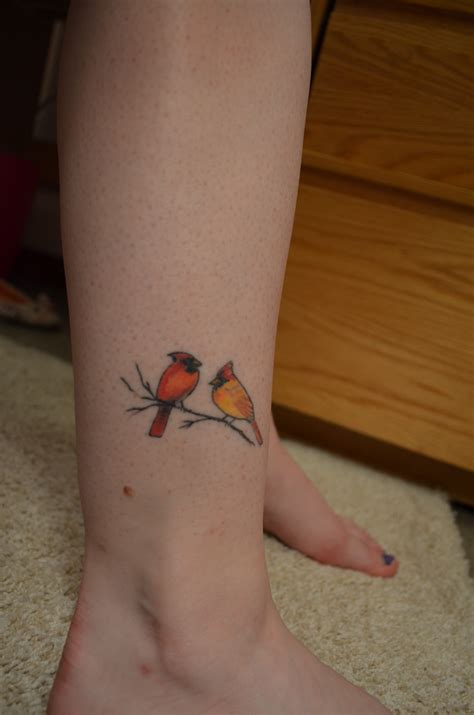 small cardinal tattoo cardinal blackbyrd fly blackbyrd fly