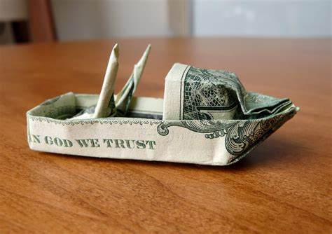 dollar origami boat dollar origami fishing boat v5 by craigfoldsfives on