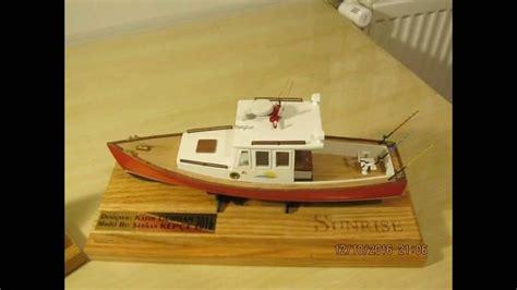 model boat building youtube sunrise classic lobster boat building model kit youtube