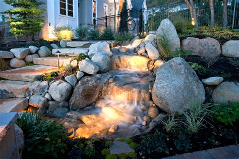 waterfall designs for backyards 50 pictures of backyard garden waterfalls ideas designs
