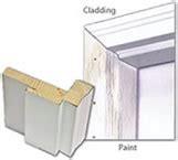 Paint Stain Options Replacement Door Pensacola Vinyl Clad Exterior Doors