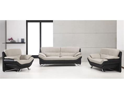 gray modern sofa set grey and black bonded leather sofa set in contemporary