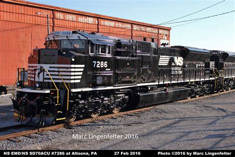 www southern ns locomotive detail photos emd ns sd70acu 7286