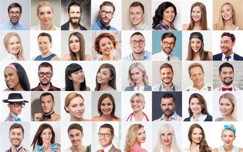 imagenes varias personas conjunto de varias personas expresando emociones positivas