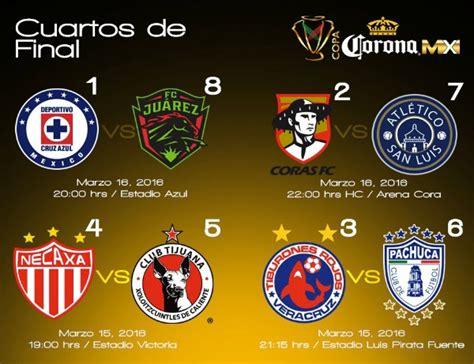 Calendario Xolos Copa Mx Los Cruces De Cuartos De En Copa Mx Clausura 16