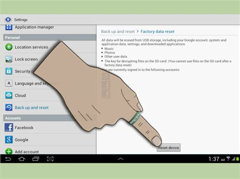 how to reset an android tablet how to reset an android tablet 6 steps with pictures wikihow