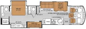 class a floor plans the new 2015 challenger class a motorhomes 37tb floor plan