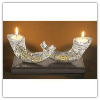 jewish candle holders crystal star of david olivewood