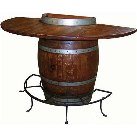 Barrel Bistro Table Half Barrel Bistro Bar Table Nc Rustic