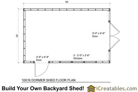 10 X 16 Shed Floor by 10x16 Shed Plans With Dormer Icreatables