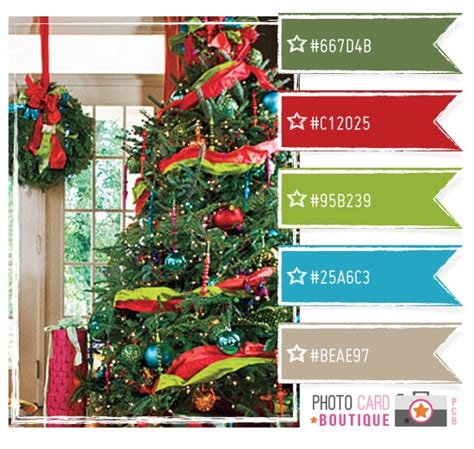 christmas color schemes bright christmas color palette color love pinterest