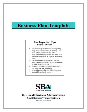 fill in the blank business plan fill online printable