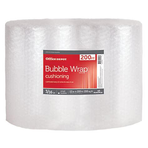 office depot brand roll 316 thick clear 12 x 200 by