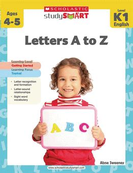 Smart Card Letters A Z scholastic study smart letters a to z grades k 1 by alyse sweeney