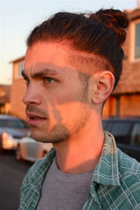 hair cuts men long hair shaved side bun 25 best ideas about man bun undercut on pinterest top