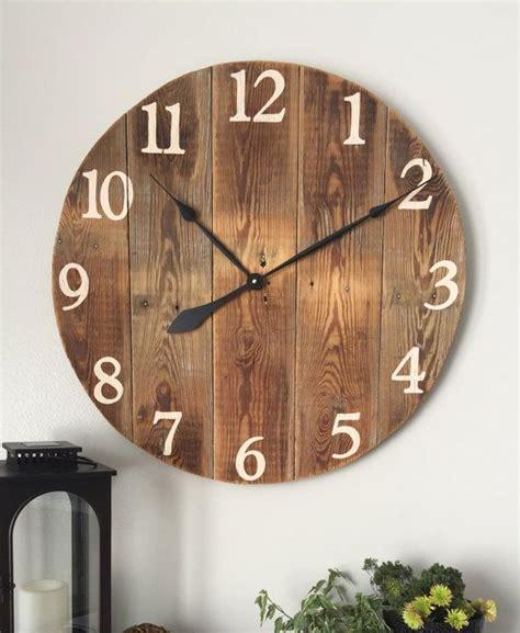 best 20 wooden clock ideas on pinterest wood clocks clocks rustic large wall clock farmhouse wall clock