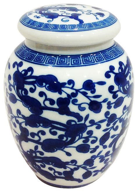 Decorative Spice Jars Decorative Blue And White Floral Porcelain Tea