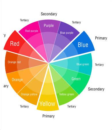 printable color wheel color wheel charts 6 free pdf documents free