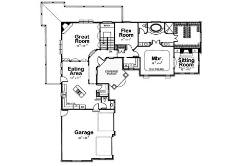 L Shaped Floor Plan by Duane Ranch Home Plan 026d 0929 House Plans And More