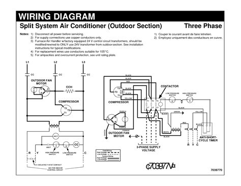 3 phase air conditioner wiring diagram free
