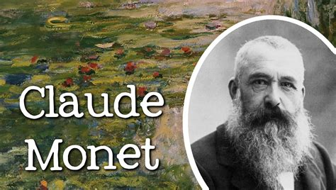 artist with biography biography of claude monet famous artists for children