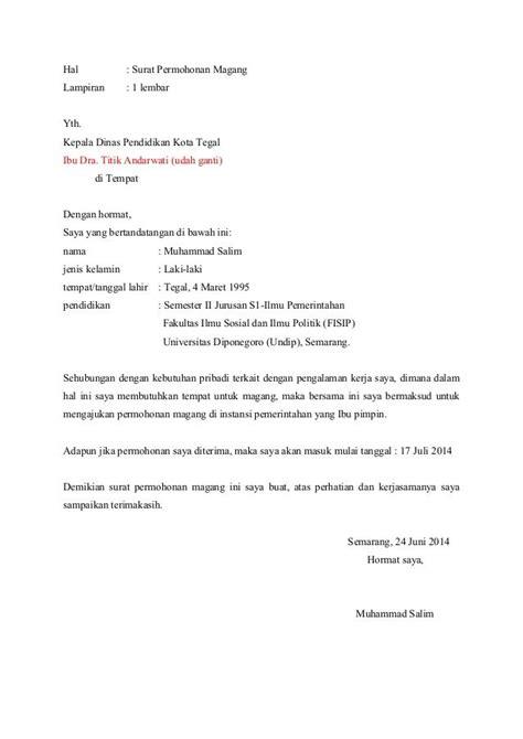 Contoh Surat Lamaran Mengajar Di Kampus - Download
