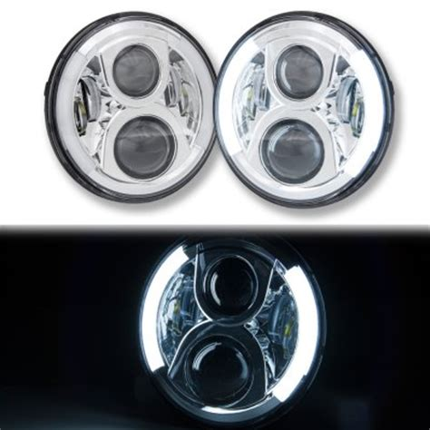 Led Headlights For Jeep Wrangler Jk Jeep Wrangler Jk 2007 2016 Led Projector Headlights Drl