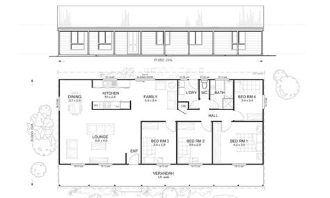 flinders 4 met kit homes 4 bedroom steel frame kit