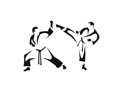 imagenes de karate en blanco y negro adhesivo deportivo de taekwondo