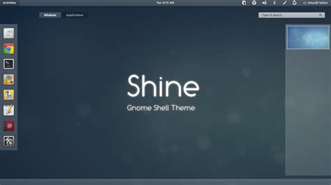 gnome login themes gnome shell shine by satya164 on deviantart