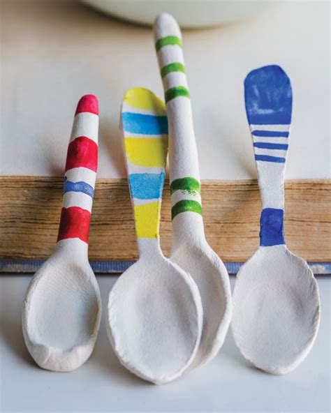 Paper Clay Crafts - paper clay spoons sweet paul magazine