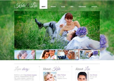 Klwedding Free Html5 Template Html5xcss3 Free Wedding Website Templates Html And Css