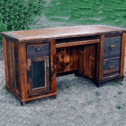 Barnwood Desk by Country Roads Barnwood Computer Desk