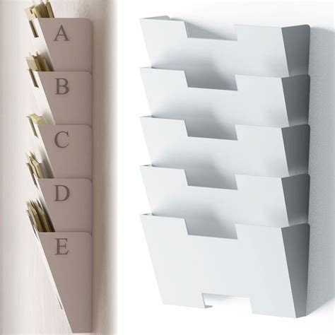 white wall mount steel file holder organizer rack
