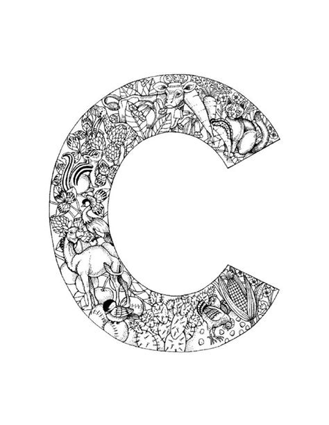 C Coloring Pages For Adults by Alphabet Coloring Pages