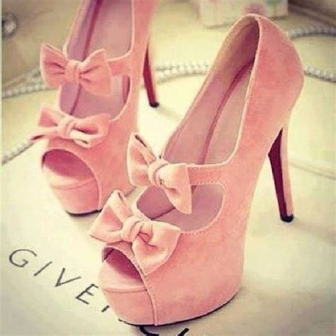 pink bow high heels shoes high heels pink heels bow pastel girly pink