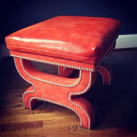 chinese ottoman moore giles leather on pulp custom a chinese red