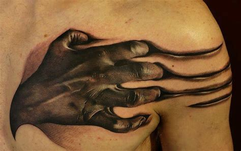 tattoo 3d chest 3d tattoos and designs page 151