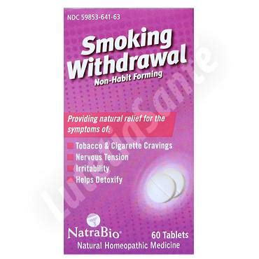 Supplements For Nicotine Detox by Withdrawal Sans Accoutumance 60 Tablettes De