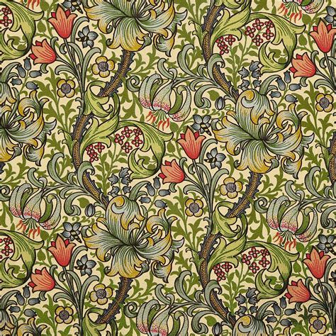 pattern fine art golden lily pattern mixed media by william morris