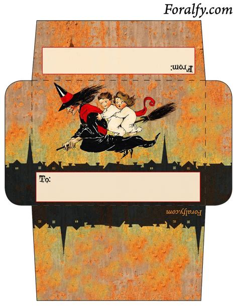 printable envelope decorations 13 best halloween stationery for print images on pinterest