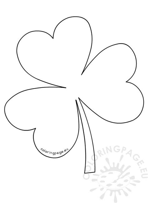 coloring pages shamrock template shamrock pattern template coloring page
