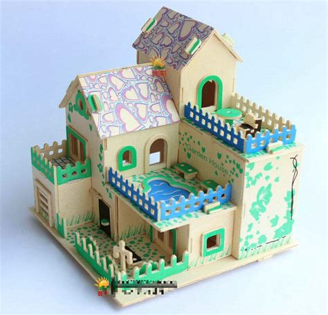house craft for creative 3d wood puzzles diy craft house model house