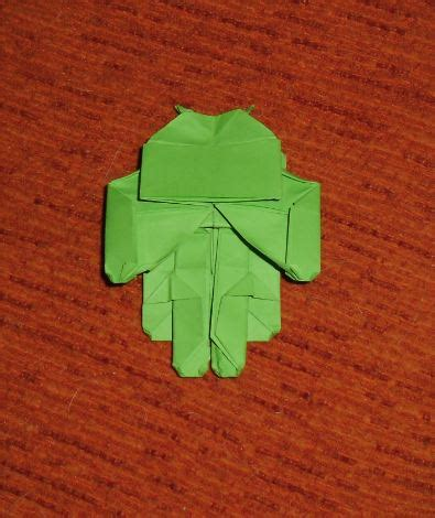 Origami Android - los chiribiquis de winga origami marcianito de android