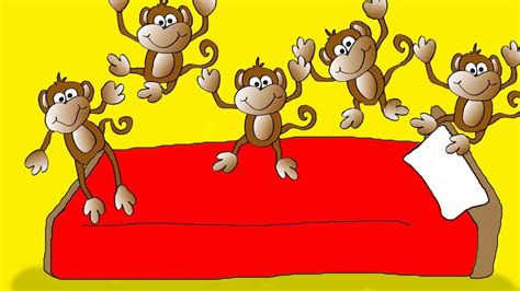 monkeys jumping in the bed pin five little monkeys jumping on the bed one fell off and bumped his on pinterest