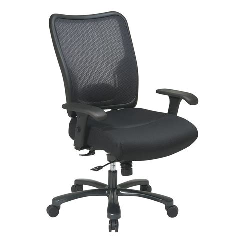 space seating space seating big and tall black airgrid back office chair